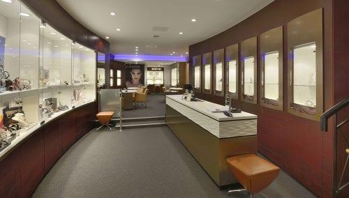 Interior design jewelry shop
