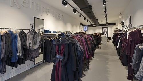 Nouveau agencement de boutique de mode pour Cora Kemperman – Bruxelles (BE)