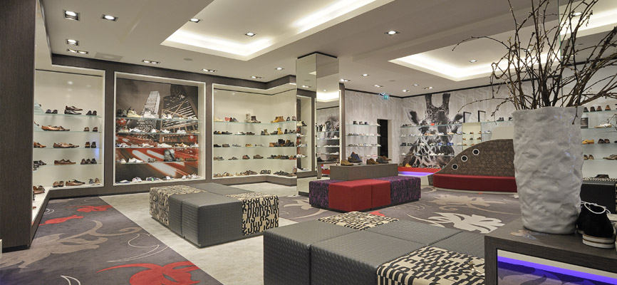 Dungelman Shoes: New shoes concept store design