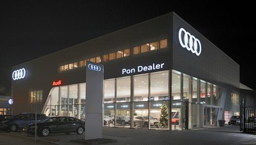 Design and shopfitting Audi Showroom, NL