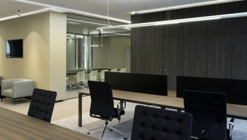 Custom furniture for an office in Luxembourg, JFPE