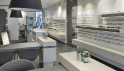 Klöckner Optik fully renovated shop interior