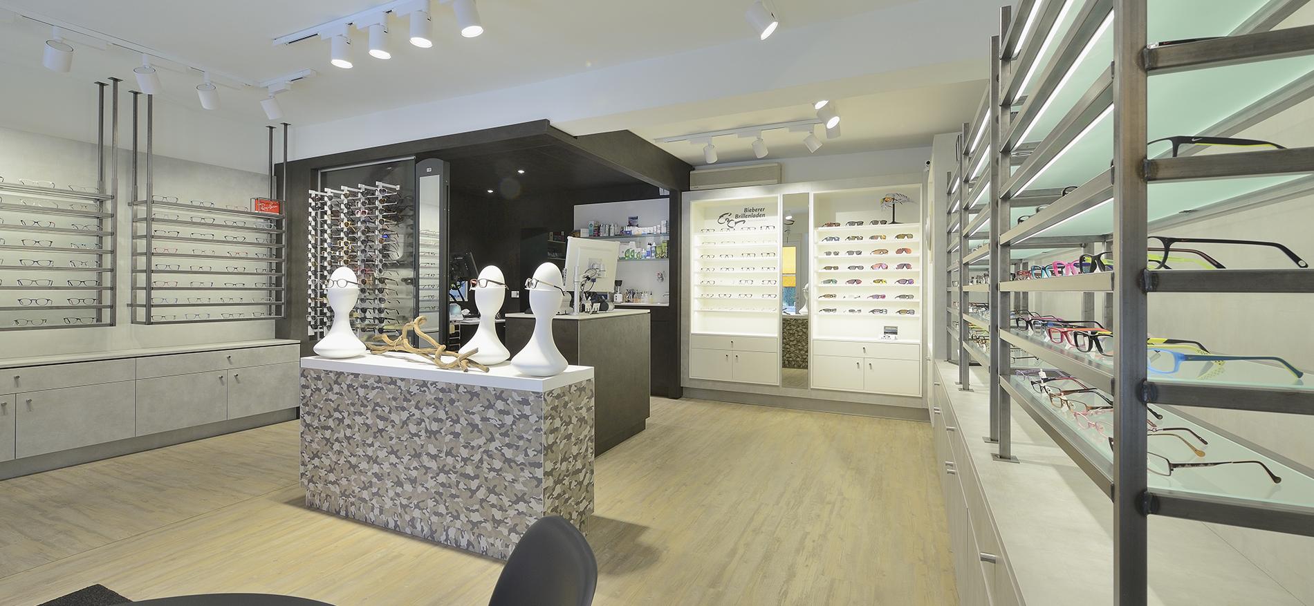 Shop design Optician Bieberer in Germany